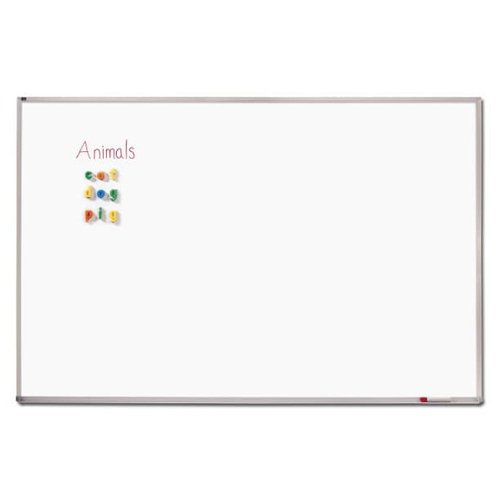 Quartet 4' x 8' Standard Melamine Classroom Whiteboard (QRT-EMA408) Image 1