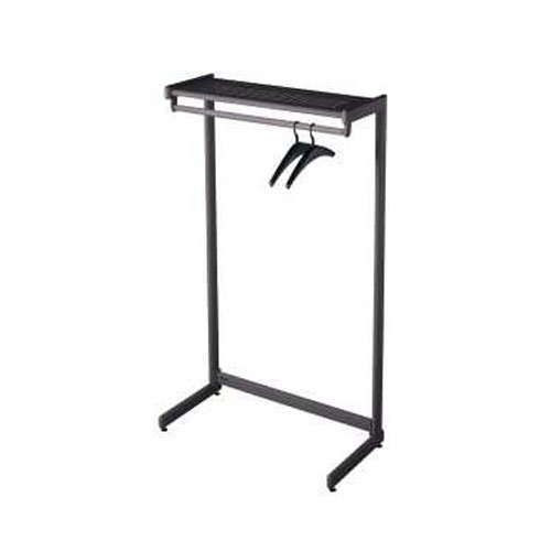 "Quartet 48"" Black One Shelf Garment Rack (QRT-20214) Image 1"