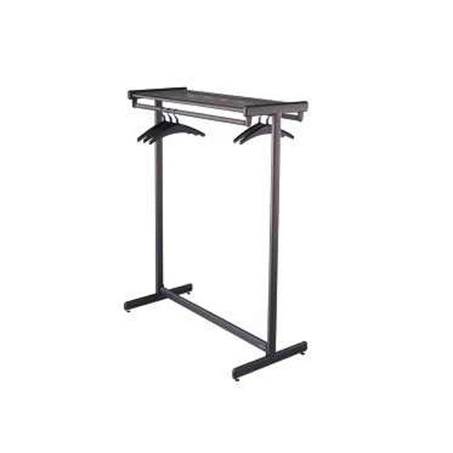 "Quartet 48"" Double Sided Black Garment Rack (QRT-20314) Image 1"