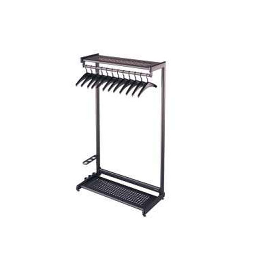"Quartet 48"" Two Shelf Black Garment Rack (QRT-20224) Image 1"