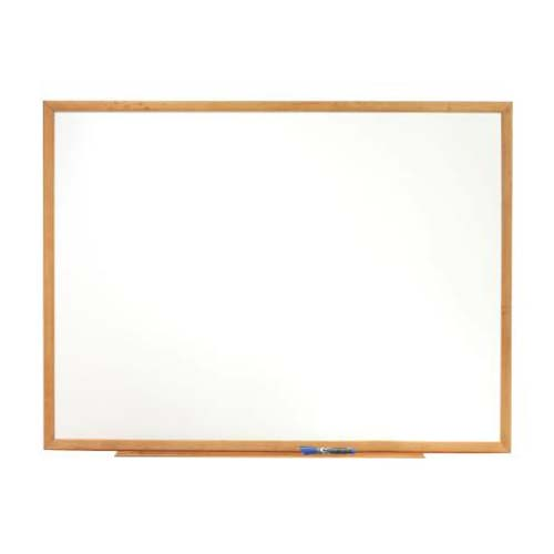 "Quartet 48"" x 34"" Oak Frame Standard Whiteboard (QRT-S574) Image 1"
