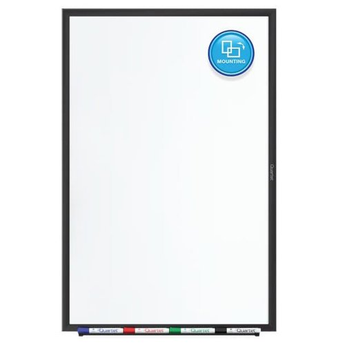 Quartet 5' x 3' Standard Magnetic Whiteboard with Black Frame (QRT-SM535B) Image 1