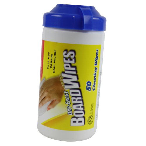 Quartet 50-Count BoardWipes Dry-Erase Cleaning Wipes - 52-180032Q (B52-180032) Image 1