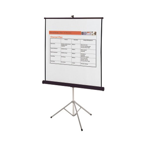 "Quartet 50"" x 50"" Portable Tripod Projection Screen (QRT-550S) Image 1"