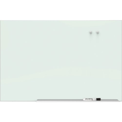 "Quartet 85"" x 48"" Element Magnetic Glass Dry-erase Board with Aluminum Frame (QRT-G8548E) Image 1"