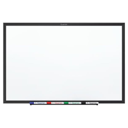 Quartet 6' x 4' Standard Magnetic Whiteboard with Black Frame (QRT-SM537B) Image 1