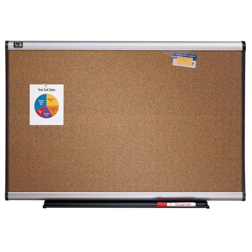 Quartet 6' x 4' Connectable Modular Colored Cork Board with Aluminum Frame (QRT-MB06C6) Image 1