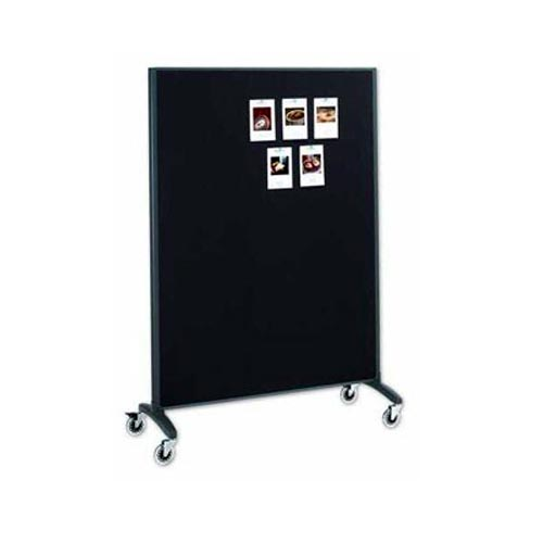 Quartet 6' x 4' Motion Marker and Bulletin Room Divider (QRT-6640MB) Image 1