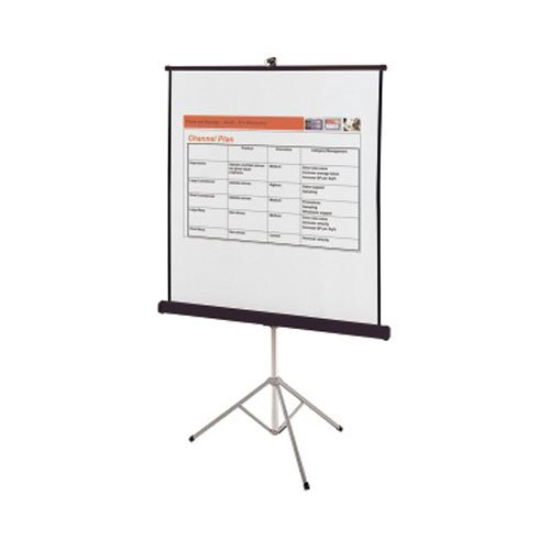 "Quartet 60"" x 60"" Portable Tripod Projection Screen (QRT-560S) Image 1"