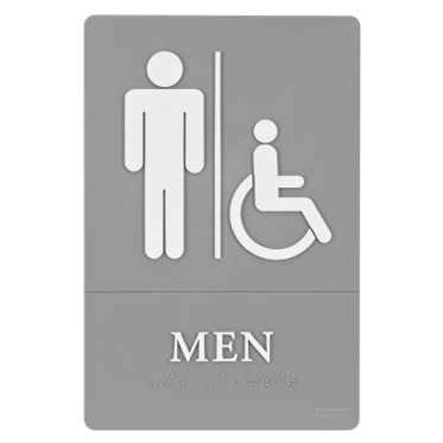 Quartet ADA Compliant Mens Accessible Restroom Sign (QRT-01416) Image 1