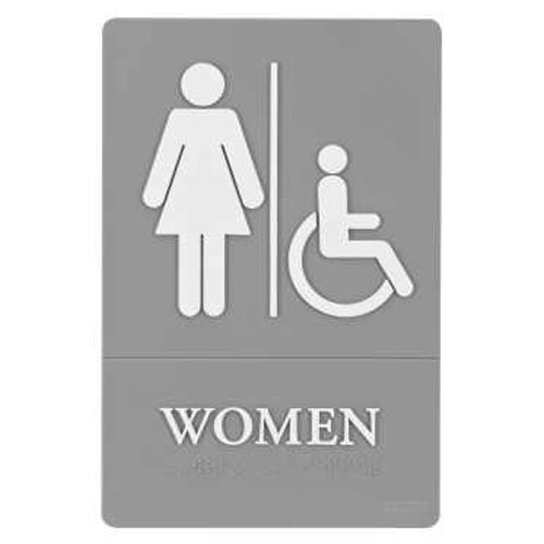 Restroom Signs with Braille Image 1