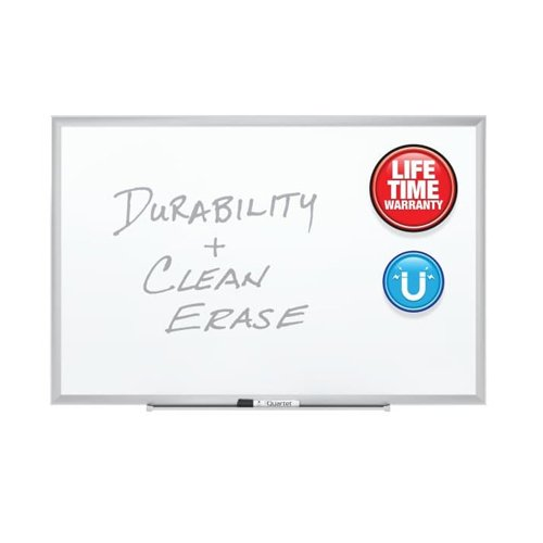 Quartet Premium DuraMax Porcelain Magnetic Whiteboards with Silver Aluminum Frame (QRT-254) Image 1