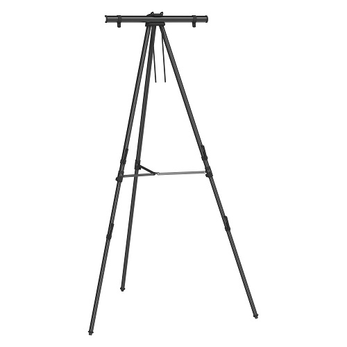 Quartet Black Aluminum Heavy-Duty Telescoping Easel (QRT-56E) Image 1