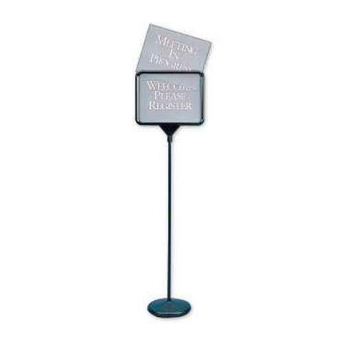 Quartet Black Signware Pedestal Sign (QRT-3655) Image 1