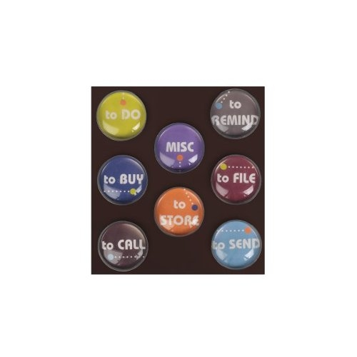 Quartet Bubble Magnets with Printed To Do/Functional Text 8pk (QRT-48118), Quartet brand Image 1
