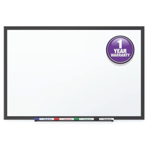 Quartet Classic 4' x 3' Melamine White Board with Black Frame (QRT-S534B) Image 1