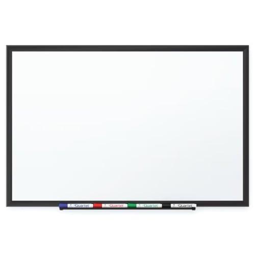 Quartet 6' x 4' Premium DuraMax Porcelain Magnetic Whiteboard with Black Aluminum Frame (QRT-2547B) Image 1