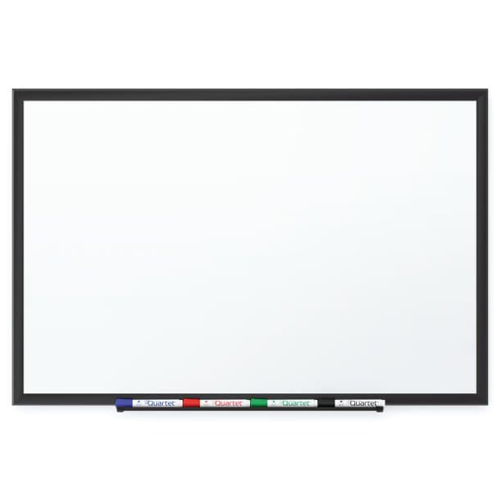 Quartet 8' x 4' Premium DuraMax Porcelain Magnetic Whiteboard with Black Aluminum Frame (QRT-2548B) Image 1