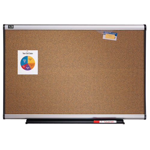 Quartet Connectable Modular Colored Cork Board with Aluminum Frame (QRT-MBC6) Image 1