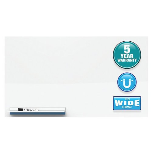 "Quartet Continuum 28"" x 48"" Frameless Magnetic Painted Steel Whiteboard (QRT-FPS2848) Image 1"