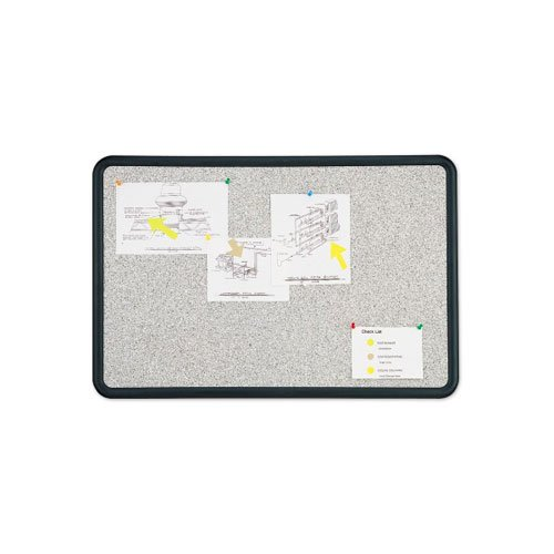 Quartet Contour 4' x 3' Granite Finish Bulletin Board (QRT-699375) Image 1