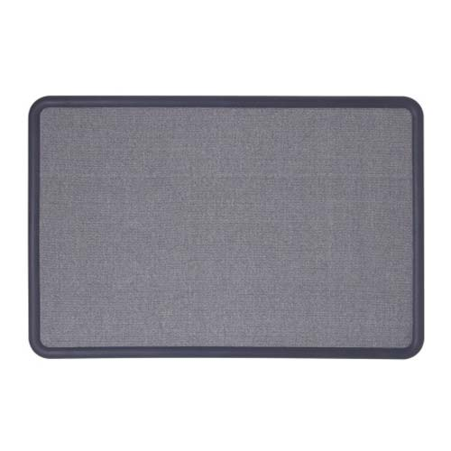 Quartet Contour Fabric 4' x 3' Navy Frame Bulletin Board (QRT-7694BE) - $77.13 Image 1