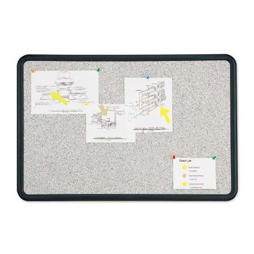 Quartet Contour Granite Finish Cork Bulletin Board (QRT-6993) - $28.61 Image 1