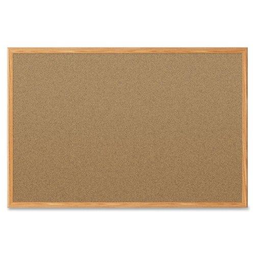 Quartet Economy Cork Bulletin Board with Oak Finish Frame (QRT-ECBBO), Quartet brand Image 1