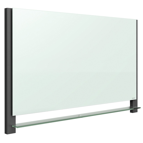 "Quartet Evoque 85"" x 48"" Magnetic Glass Dry-Erase Board with Invisible Mount (QRT-G8548BA) Image 1"