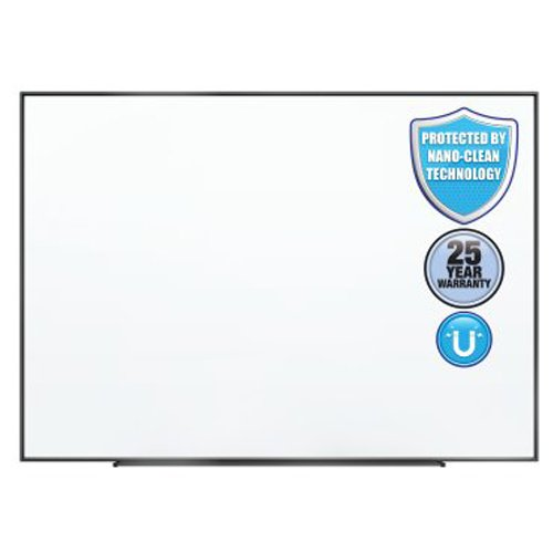 Quartet Fusion Nano-Clean 4' x 3' Magnetic Whiteboard with Black Aluminum Frame (QRT-NA4836FB) Image 1