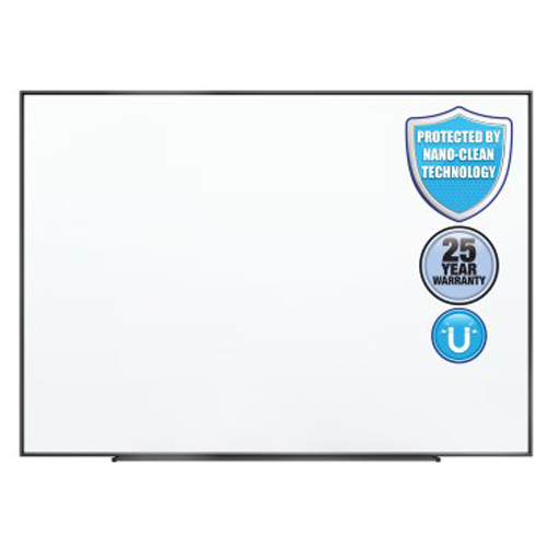Quartet Fusion Nano-Clean 8' x 4' Magnetic Whiteboard with Black Aluminum Frame (QRT-NA9648FB) Image 1