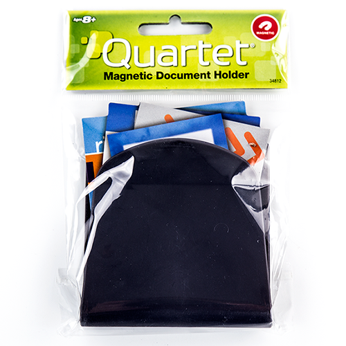 "Quartet Black Magnetic Mini Document Holder/Mail Organizer (3.25"" x 3.5"") 1pk (QRT-34812BK-FBA), Clearance Products Image 1"