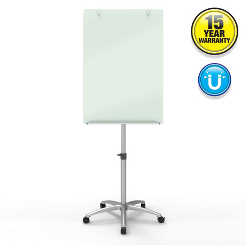 Quartet Infinity 2' x 3' Magnetic Glass Dry-Erase Board Mobile Easel (QRT-ECM32G)