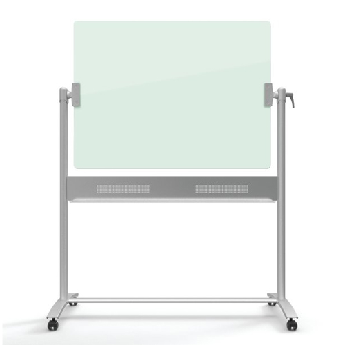 Quartet Infinity 4' x 3' Magnetic Glass Reversible Dry-Erase Board Mobile Easel (QRT-ECM43G) Image 1