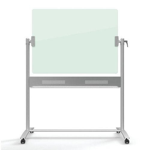 Quartet Infinity 4' x 3' Magnetic Glass Reversible Dry-Erase Board Mobile Easel (QRT-ECM43G)