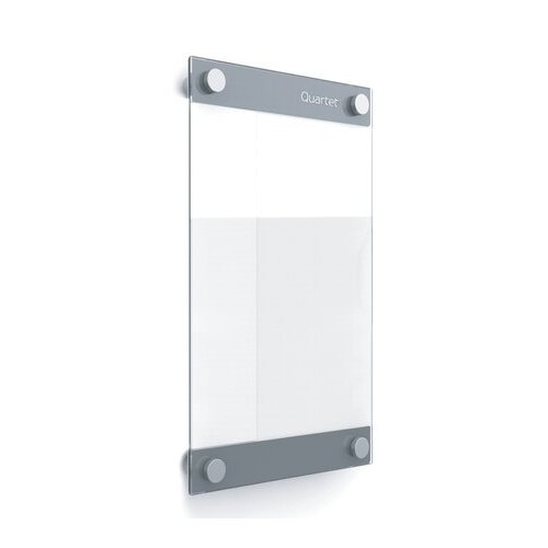 "Quartet Infinity 8.5"" x 11"" Customizable Magnetic Glass Dry-Erase Board (QRT-GI8511) Image 1"