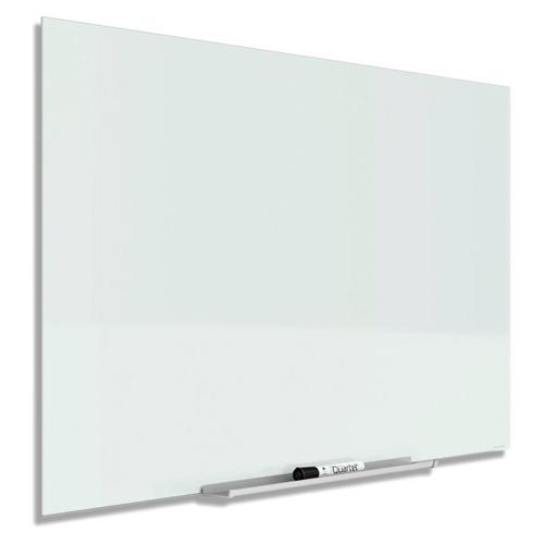 "Quartet InvisaMount 85"" x 48"" Magnetic Glass Dry-Erase Board (QRT-G8548IMW), Quartet brand Image 1"