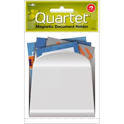 "Quartet White Magnetic Mini Document Holder/Mail Organizer (3.25"" x 3.5"") 1pk (QRT-34812WH) - $1.99 Image 1"