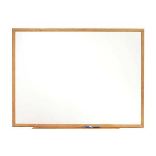 Quartet Oak Frame Standard Whiteboard (QRT-S57), Quartet Image 1