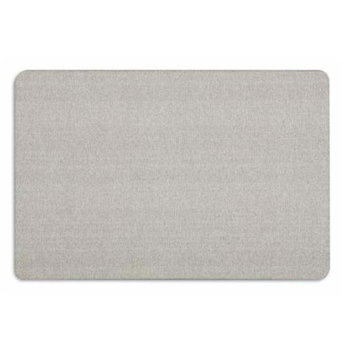 Quartet Oval Office 4' x 3' Grey Fabric Bulletin Board (QRT-7684G) - $110.8 Image 1
