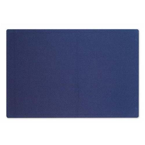 Quartet Oval Office 4' x 3' Indigo Blue Fabric Bulletin Board (QRT-7684IB) Image 1