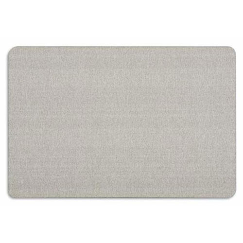 Quartet Oval Office Grey Fabric Bulletin Board (QRT-768G) Image 1