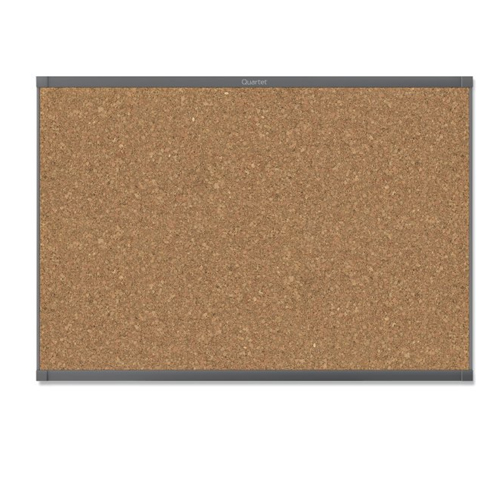 Quartet Prestige 2 4' x 3' Magnetic Cork Bulletin Boards with Graphite Frame (QRT-MC244GP2) Image 1