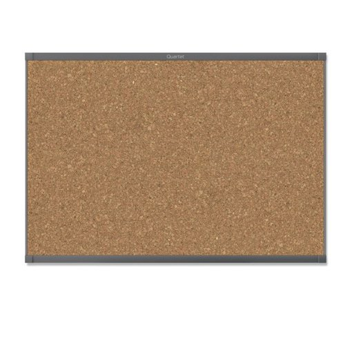 Quartet Prestige 2 6' x 4' Magnetic Cork Bulletin Boards with Graphite Frame (QRT-MC247GP2) Image 1