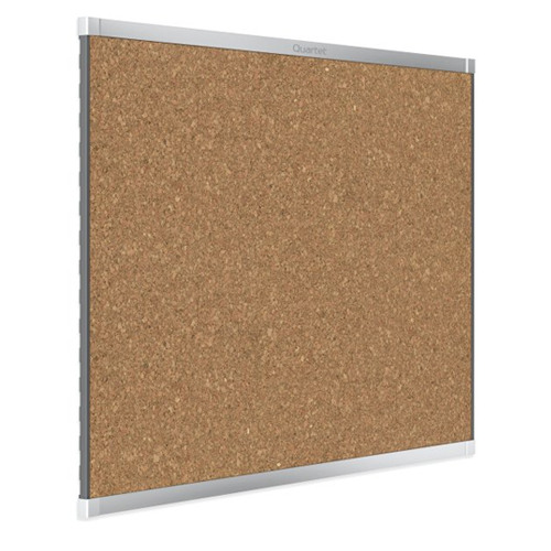 Quartet Prestige 2 4' x 3' Magnetic Cork Bulletin Boards with Silver Frame (QRT-MC244AP2) Image 1