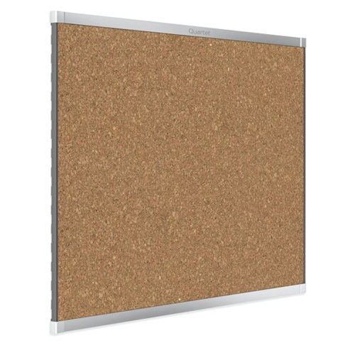 Quartet Prestige 2 6' x 4' Magnetic Cork Bulletin Boards with Silver Frame (QRT-MC247AP2) Image 1