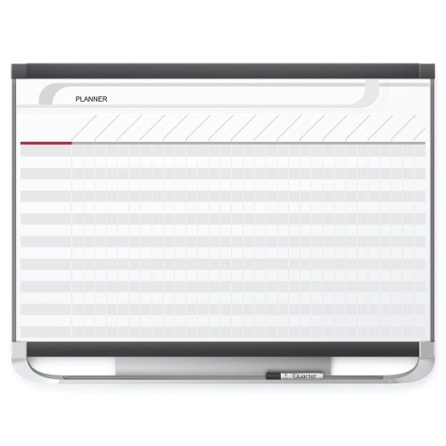 Quartet Prestige 2 3' x 2' Total Erase Magnetic Project Planner White Board (QRT-PP32P2)