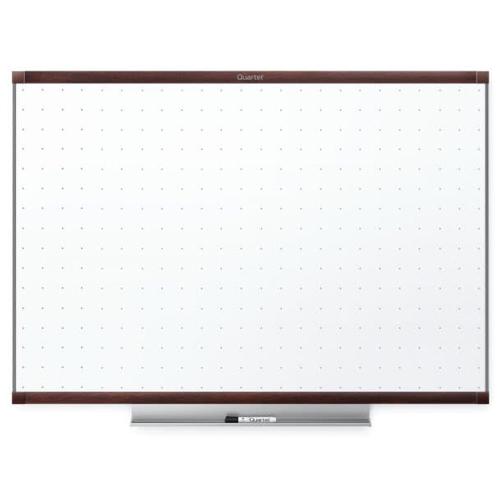 Quartet Prestige 2 4' x 3' Total Erase White Board Mahogany Frame (QRT-TE544MP2) Image 1