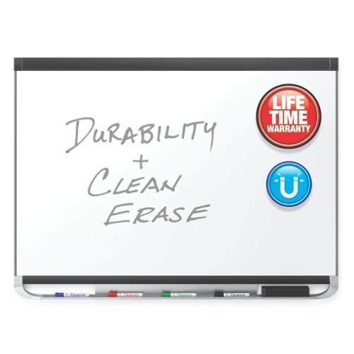 Quartet Prestige 2 6' x 4' Magnetic Porcelain White Board Black Frame (QRT-P557BP2) Image 1