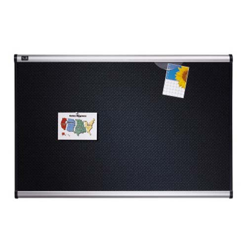 "Quartet Prestige 72"" x 48"" Embossed Foam Bulletin Board with Aluminum Frame (QRT-B347A) Image 1"